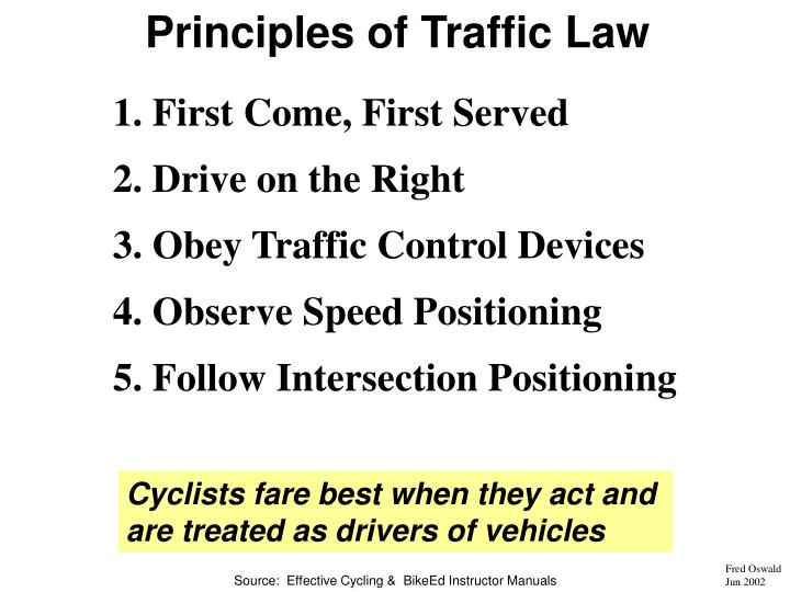 Principles of Traffic Law