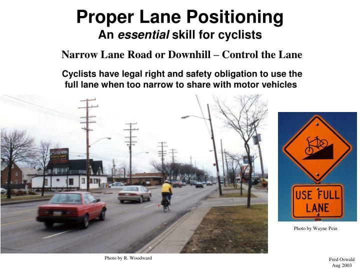 Proper Lane Positioning