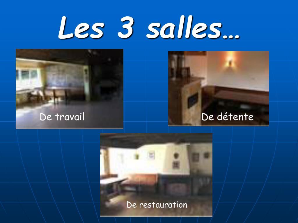 Les 3 salles…