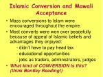 islamic conversion and mawali acceptance