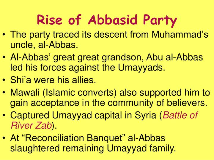 Rise of abbasid party