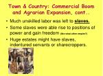 town country commercial boom and agrarian expansion cont1