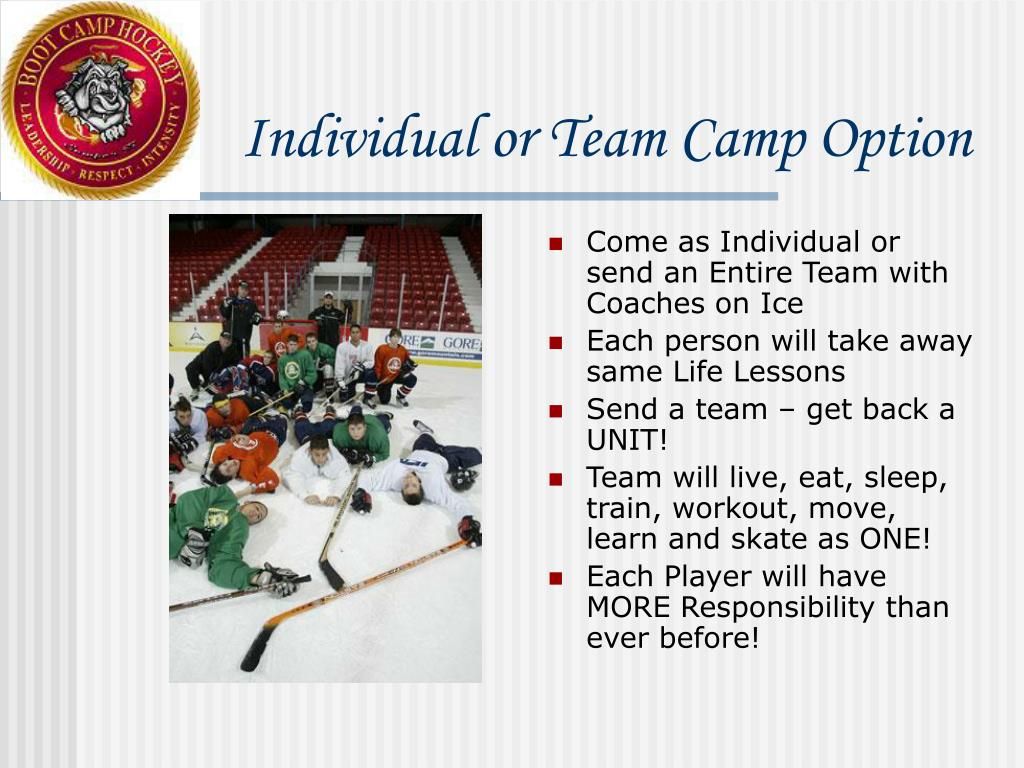 Individual or Team Camp Option