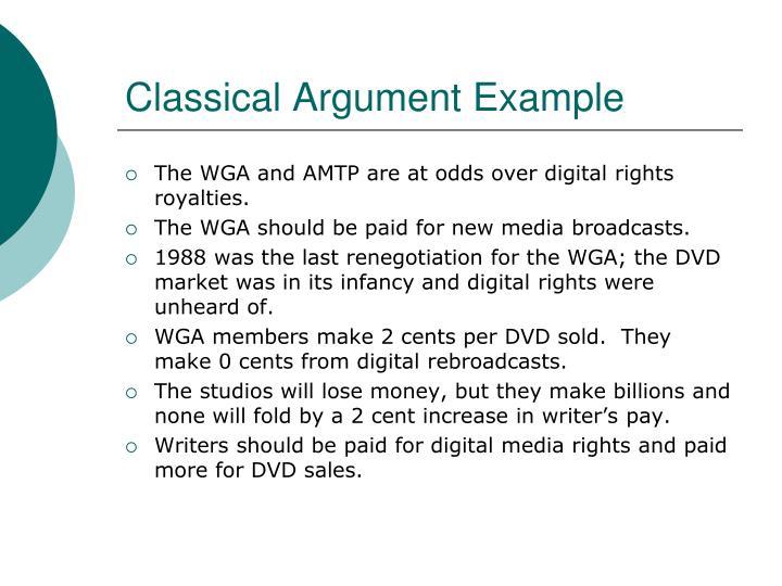 Classical Argument Example