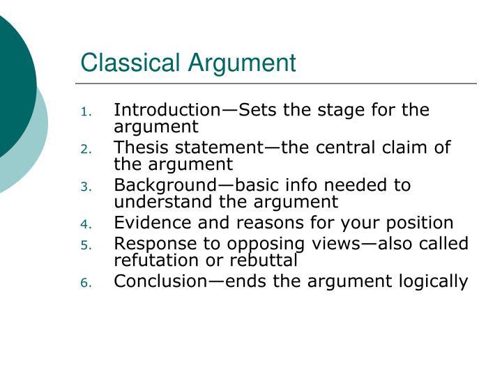 Classical Argument