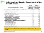 6 6 overall and specific assessments of the level 1 course