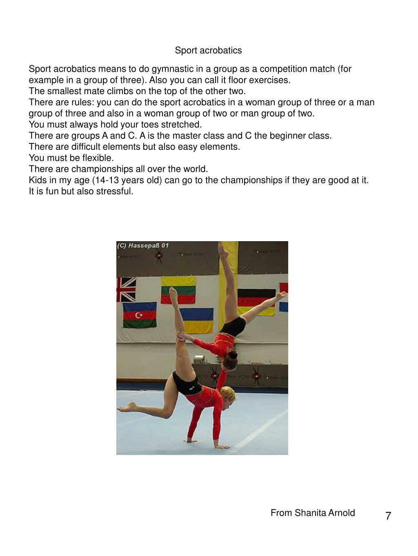 Sport acrobatics