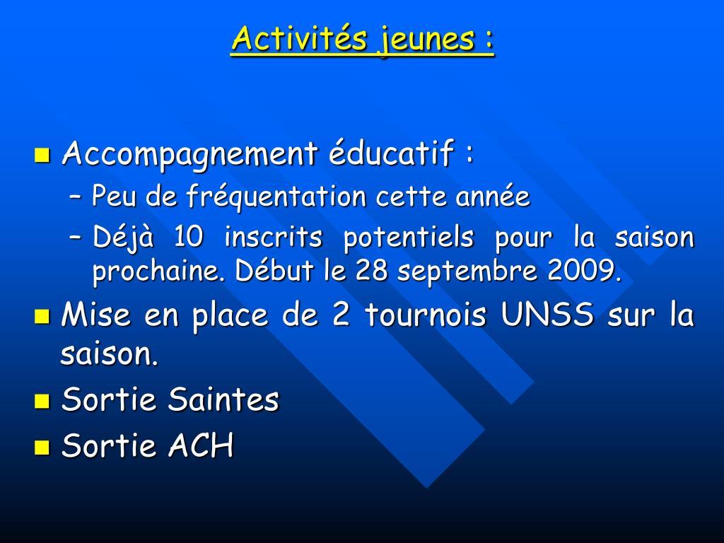 Activités jeunes :