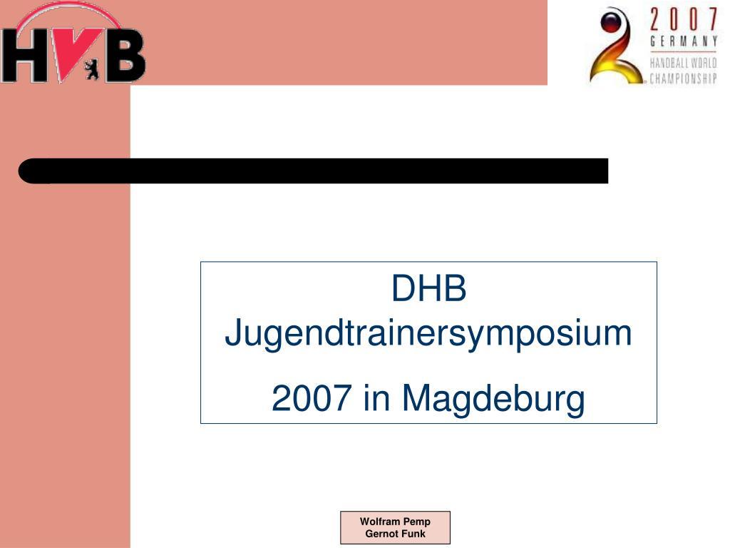 DHB Jugendtrainersymposium