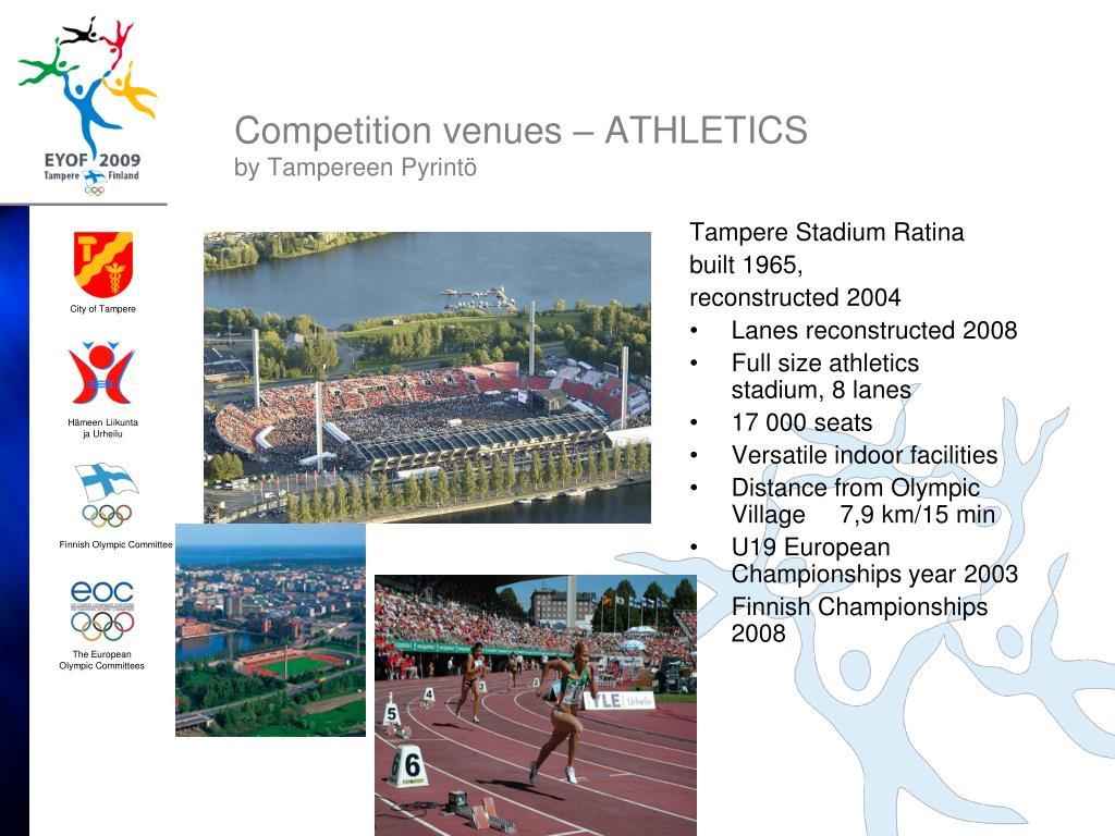 Competition venues