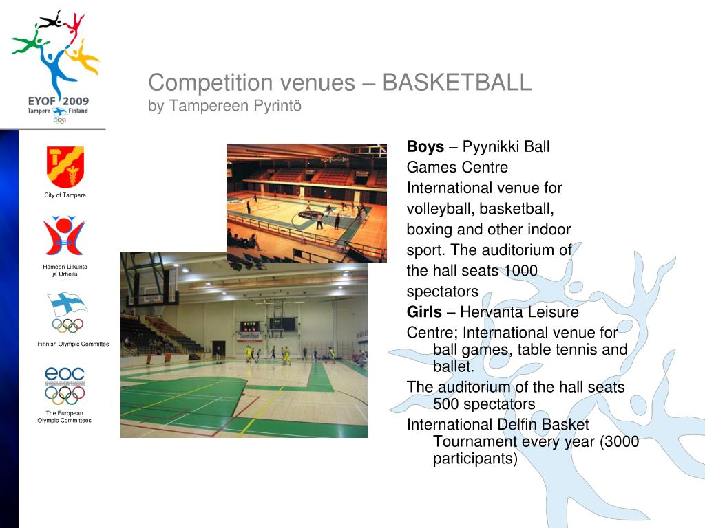 Competition venues – BASKETBALL