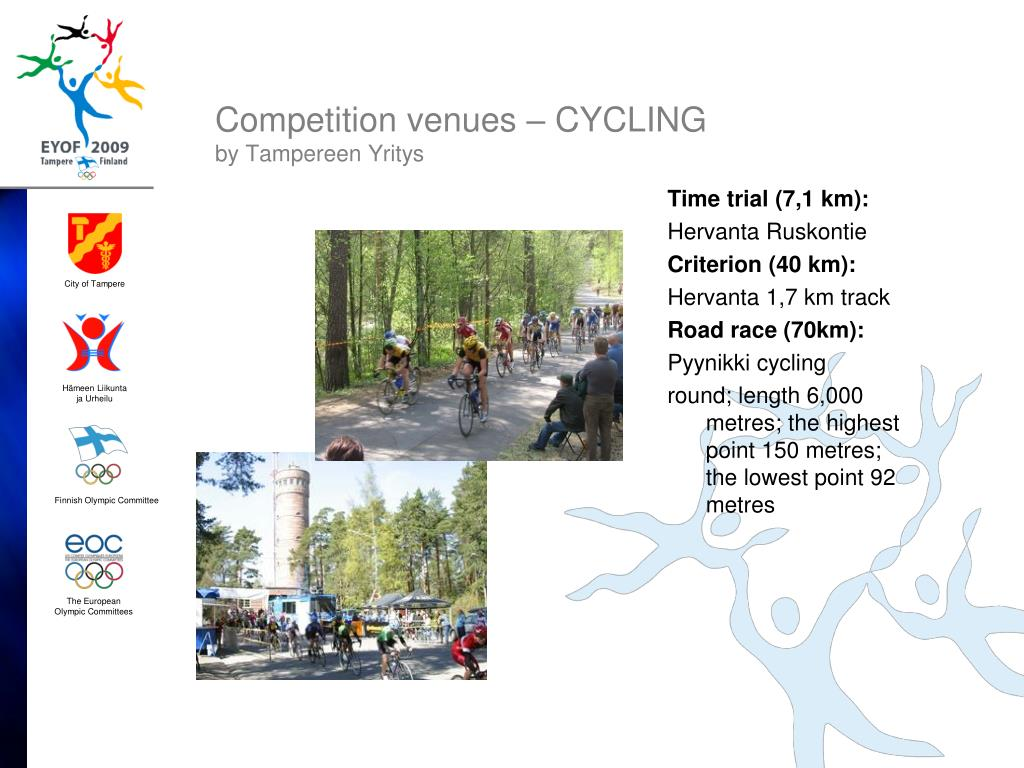 Competition venues – CYCLING