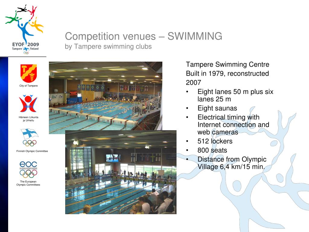 Competition venues – SWIMMING
