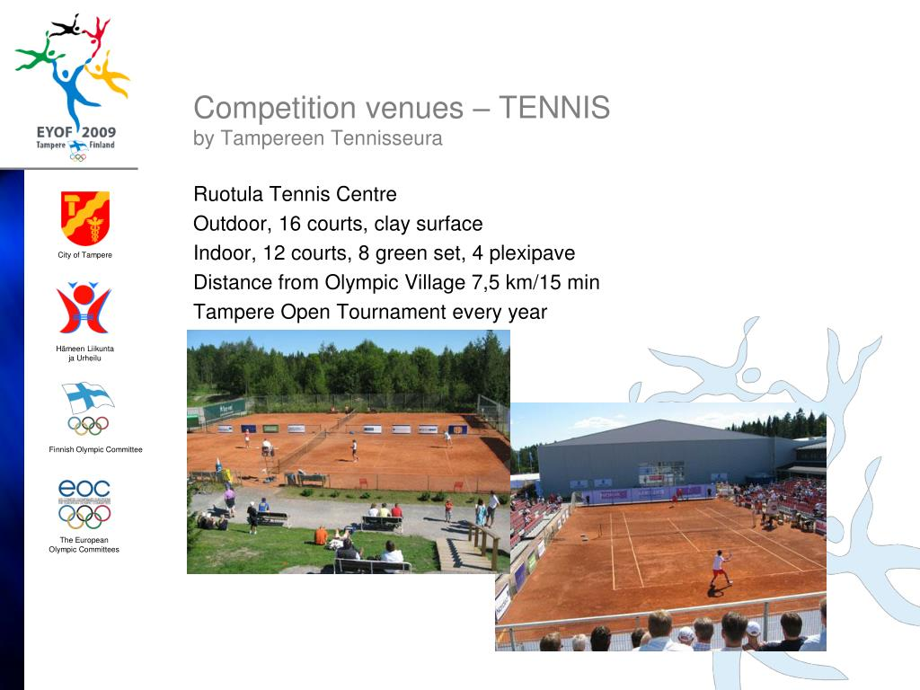 Competition venues – TENNIS