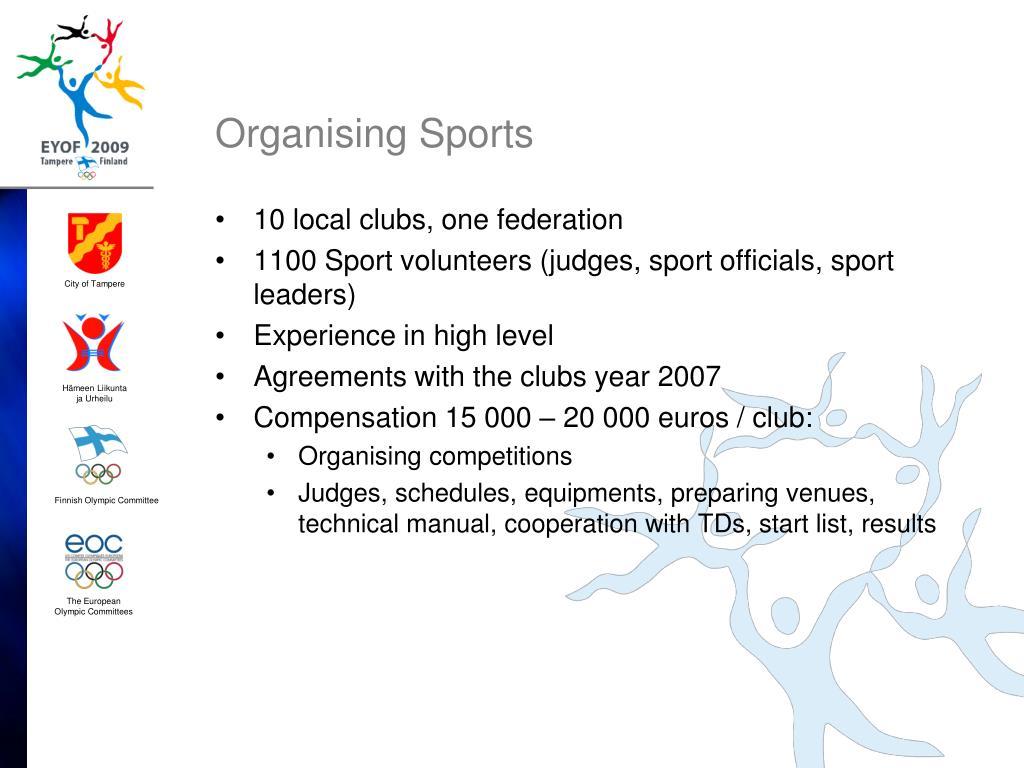 Organising Sports