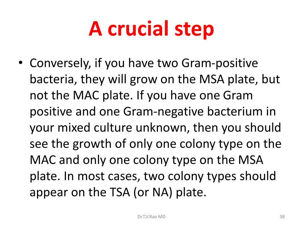 A crucial step