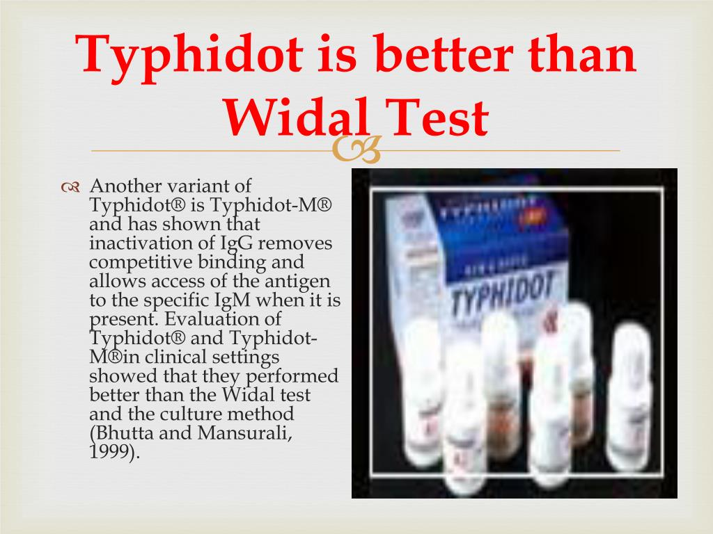 Typhidot is better than Widal Test