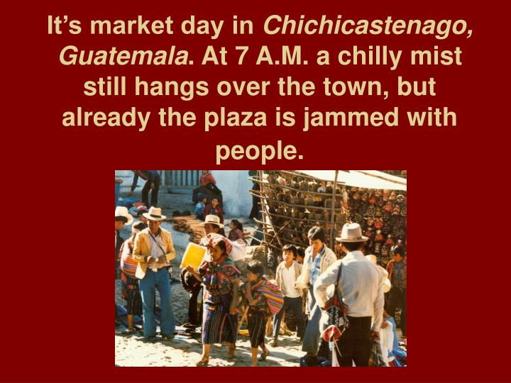 It's market day in