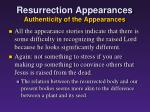 resurrection appearances authenticity of the appearances3