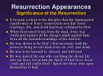 resurrection appearances significance of the resurrection1