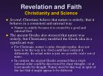 revelation and faith christianity and science3