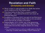 revelation and faith christianity and science4