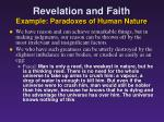 revelation and faith example paradoxes of human nature1