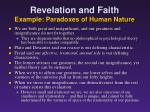 revelation and faith example paradoxes of human nature2
