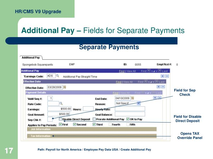 Additional Pay –