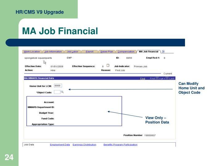 HR/CMS V9 Upgrade