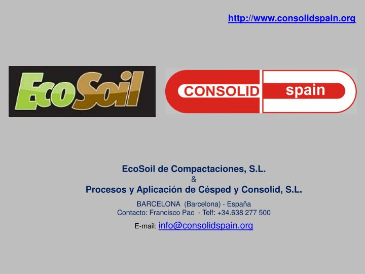 http://www.consolidspain.org