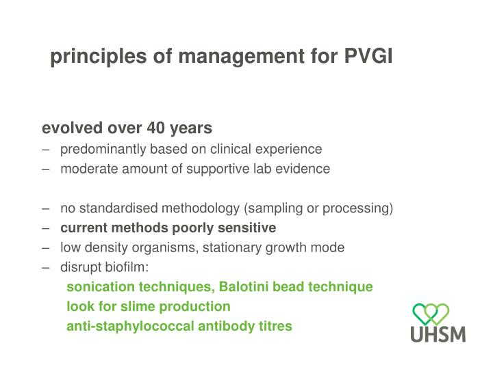 principles of management for PVGI