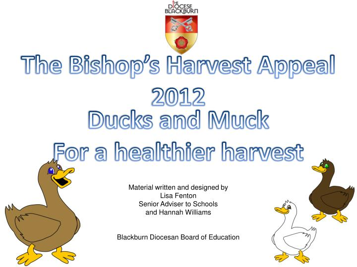 The Bishop's Harvest Appeal