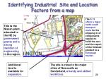 identifying industrial site and location factors from a map