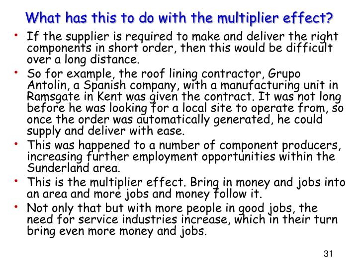 What has this to do with the multiplier effect?