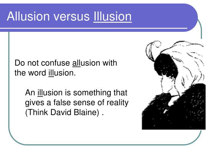 Allusion versus