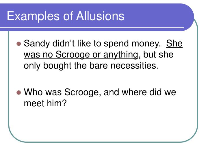 Examples of Allusions