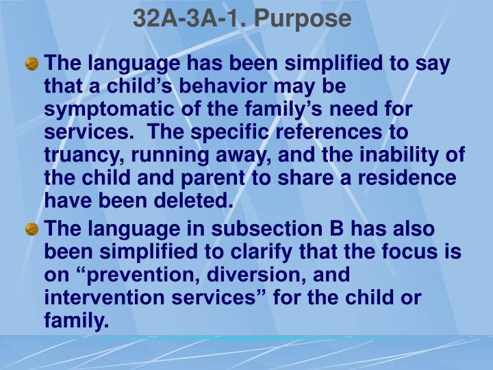 32A-3A-1. Purpose
