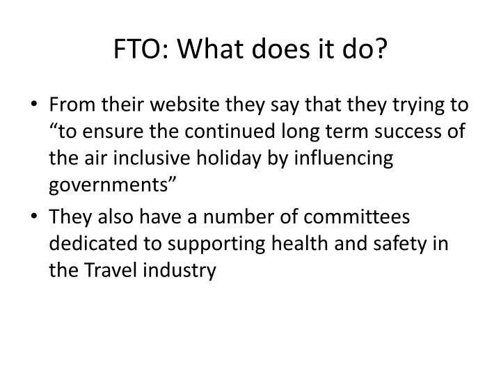 FTO: What does it do?