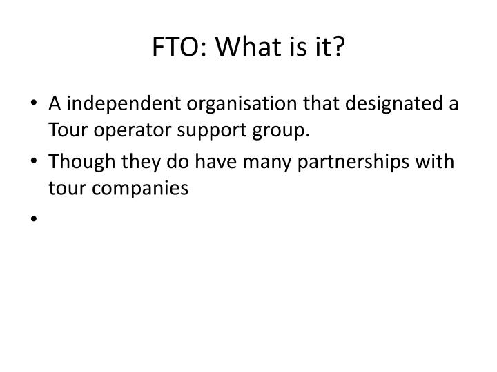 FTO: What is it?