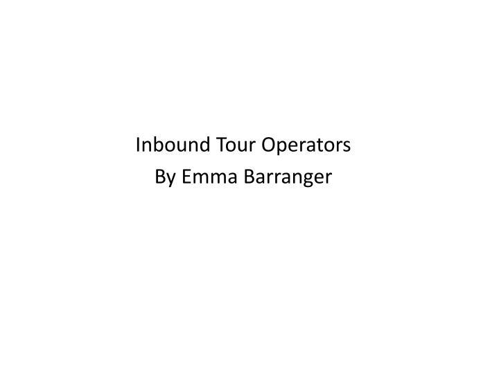 Inbound Tour Operators