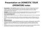 presentation on domestic tour operators notes