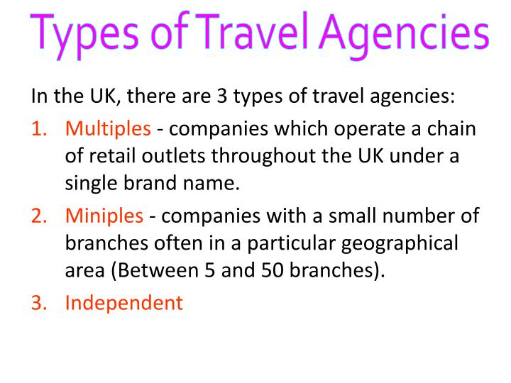 Types of Travel Agencies