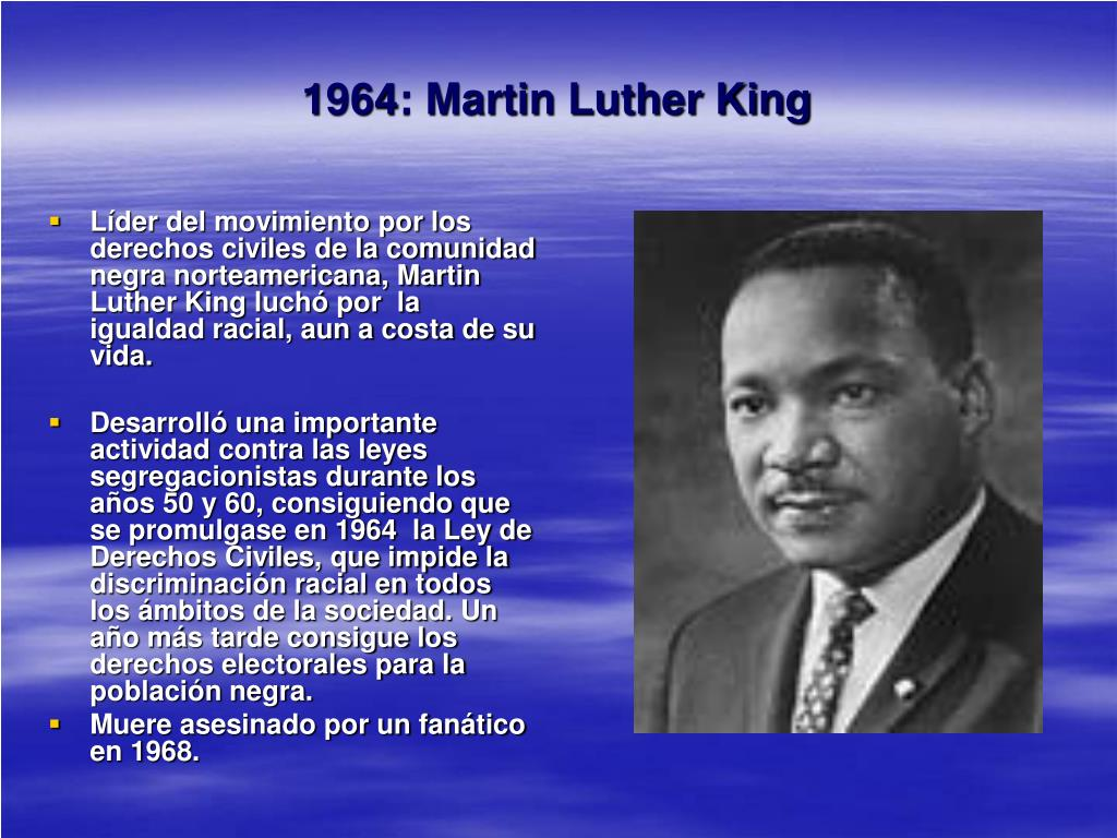 1964: Martin Luther King