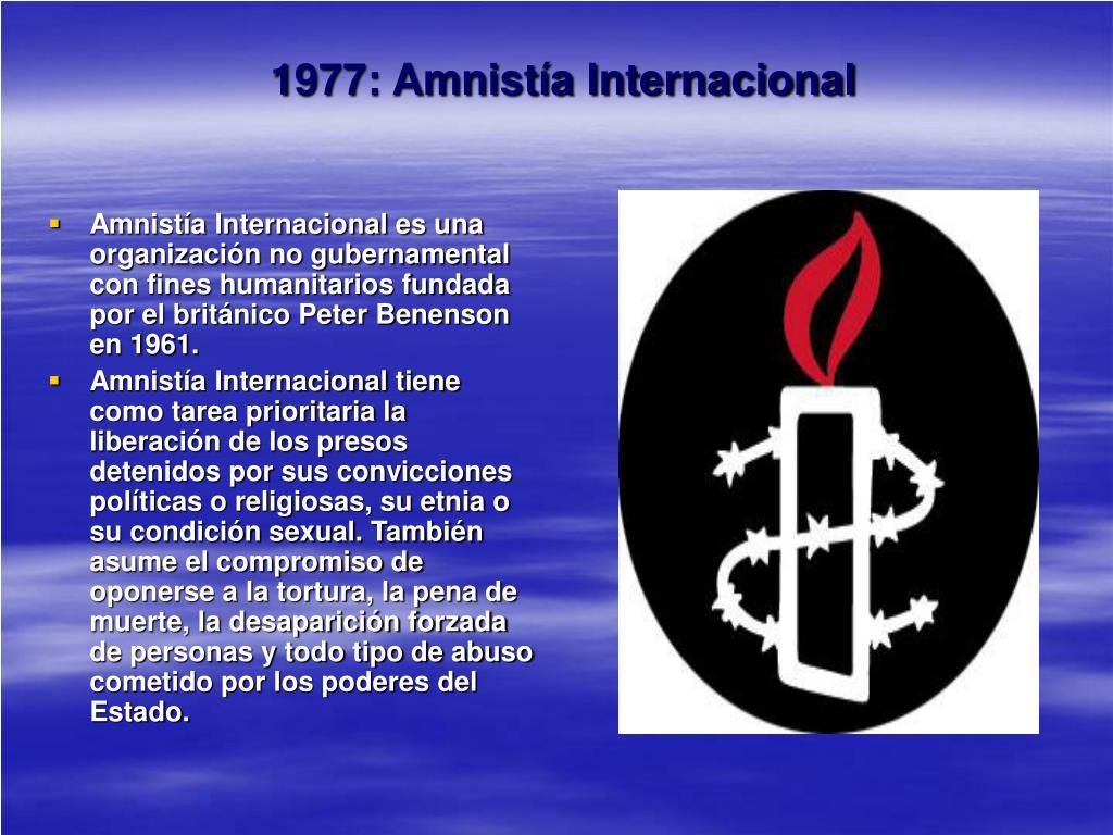 1977: Amnistía Internacional