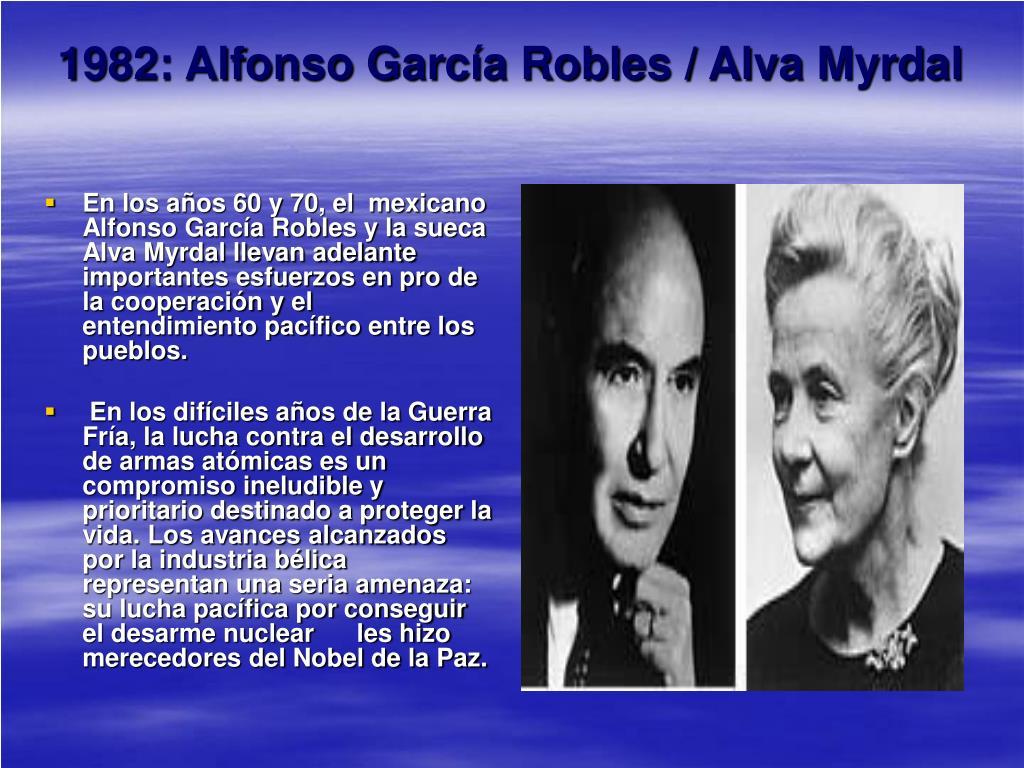 1982: Alfonso García Robles / Alva Myrdal