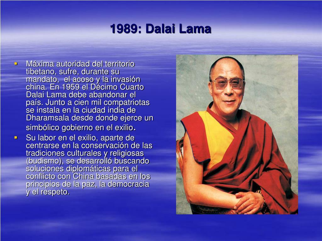 1989: Dalai Lama