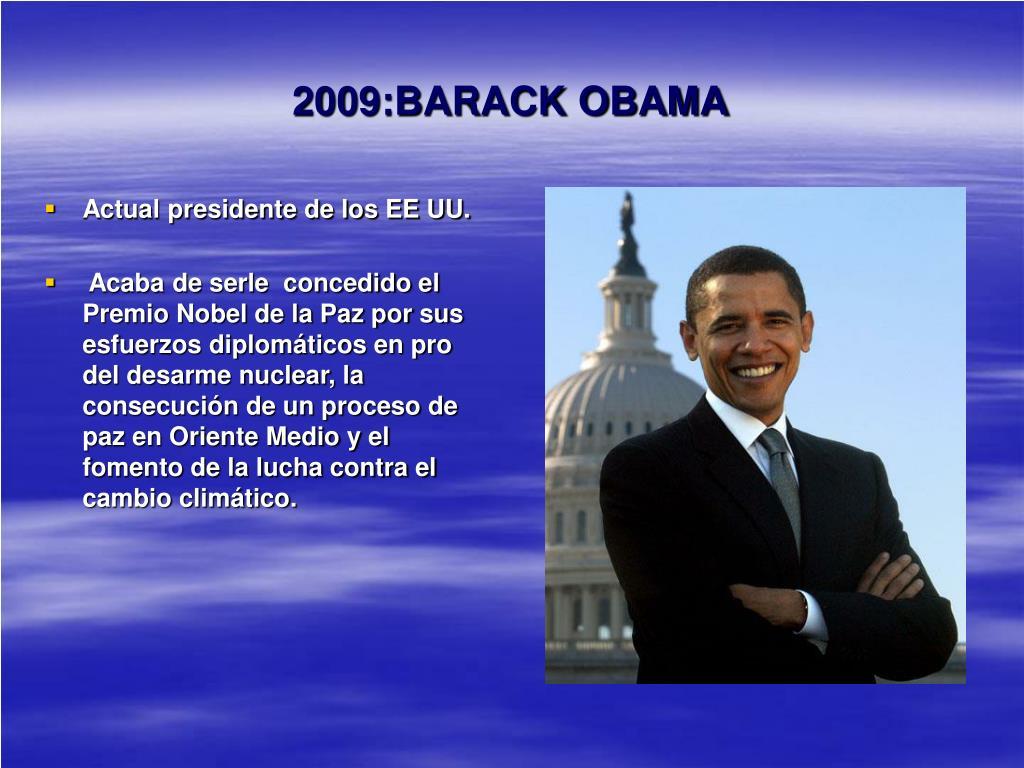 2009:BARACK OBAMA