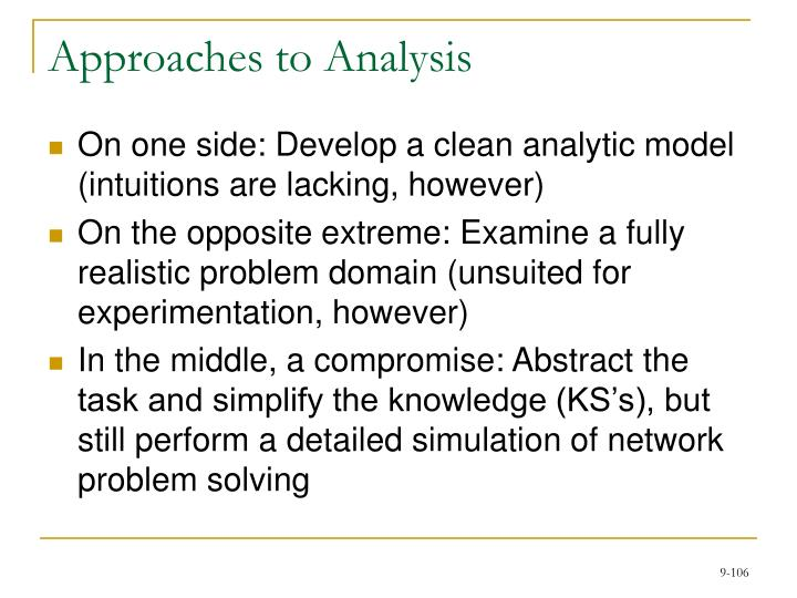 Approaches to Analysis