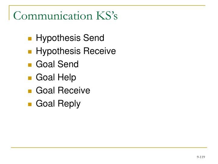 Communication KS's